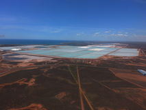 Salzproduktion staut Hafen Hedland West-Australien Lizenzfreies Stockbild