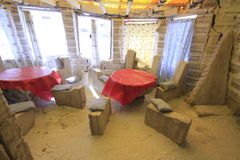 Salzskulpturen, Salar De Uyuni Bolivia Lizenzfreies Stockbild