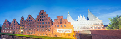 Salzspeicher, historic brick buildings of Lubeck, Germany Stock Image