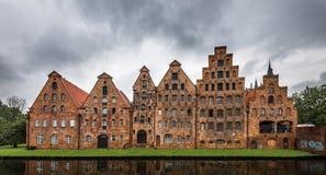Salzspeicher, historic salt storage warehouses in Lubeck, German. Y Royalty Free Stock Photo