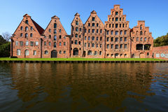 Salzspeicher, old salt storage warehouses in Lubeck, Germany Royalty Free Stock Photos
