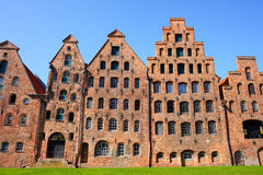 Salzspeicher, old salt storage warehouses in Lubeck, Germany.  Stock Images