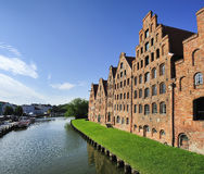 The Salzspeicher (salt storehouses), Lubeck, Germany. Royalty Free Stock Images