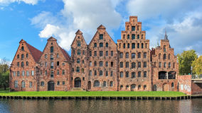 Salzspeicher & x28;salt storehouses& x29; in Lubeck, Germany Royalty Free Stock Images