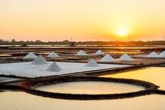 Salzverdampfungsteich Stockfoto