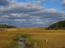 Salzwasser-Sumpf, Eastham, Cape Cod, stockfotos