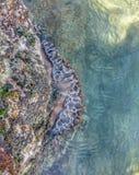 Salzwasserfelsenpool Stockfoto