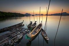Sam-Chong-tai fisherman village. Sam-Chong-Tai is fisherman village located at Phang-gna province royalty free stock photos