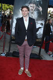 Sam Claflin arrives at the 'Snow White And The Huntsman' Los Angeles screening Stock Photography