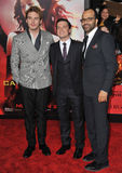 Sam Claflin & Josh Hutcherson & Jeffrey Wright Stock Photos