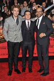 Sam Claflin & Josh Hutcherson & Jeffrey Wright Stock Images