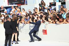 Sam Claflin walks the red carpet Stock Images
