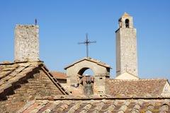 Sam Gimignano torn, Tuscany Royaltyfri Fotografi