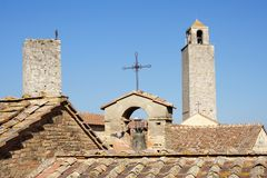 Sam Gimignano towers, Tuscany Royalty Free Stock Photography