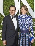 Sam Gold and Amy Herzog. Previous Tony winner Sam Gold and Amy Herzog arrive on the red carpet at the 71st Annual Tony Awards held at Radio City Music Hall in Stock Image