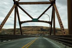 Sam Hill Memorial Bridge royalty free stock photo