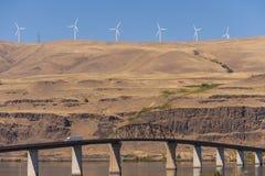 The Sam Hill Memorial Bridge Stock Photo