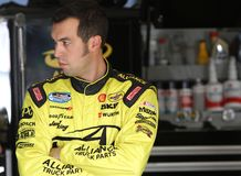 Sam-Hornish jr. an der Spur Stockfotografie