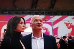 Sam Klebanov bij XXXVI Internationaal de Filmfestival van Moskou Royalty-vrije Stock Foto's