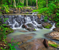 Sam Lan waterfall in Thailand Stock Photos