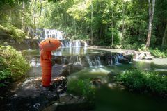 Sam Lan-watervallen stock foto