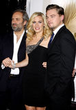 Sam Mendes, Kate Winslet and Leonardo DiCaprio Royalty Free Stock Image