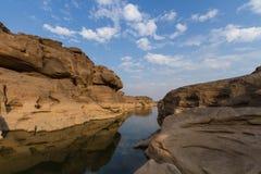 Sam Pan Bok Canyon. Stock Photos