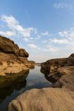Sam Pan Bok Canyon in Mekong river. Stock Images