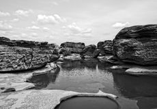 Sam-Pan-Bok Grand Canyon, Überraschen des Felsens im Mekong lizenzfreie stockbilder