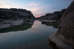 Sam Phan Bok Canyon, Grand Canyon della Tailandia Immagini Stock