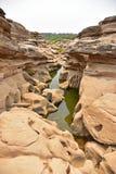 Sam Phan Bok (Grand Canyon de Tailândia) fotografia de stock