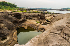 Sam Phan Bok - The Grand Canyon of Thailand Royalty Free Stock Images