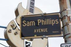 Sam Phillips alei znak obraz stock