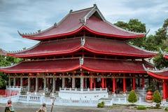 Sam Poo Kong Temple Gedung Batu tempel, den äldsta kinesiska templet i centrala Java Semarang Indonesien Juli 2018 royaltyfria bilder