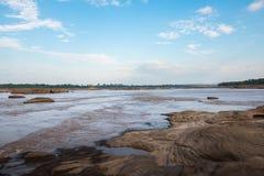 `Sam Pun Bok ` Thailand grand canyon sam phan bok at Ubon Ratchathani, Thailand. It caused by erosion, the basin becomes more th. An 3,000 basins stock images