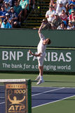 Sam querrey doubles serve Royalty Free Stock Photos