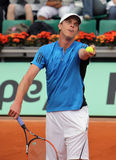 Sam Querrey (USA) at Roland Garros 2009 Royalty Free Stock Photos