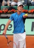 Sam Querrey (USA) at Roland Garros 2009 Royalty Free Stock Photos