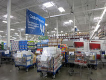 Sam's Club interior with pick up orders ready for pick up and pr Stock Photography
