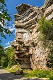 Sam`s Point rock formation in Minnewaska State Park. Shawangunk Mountains, Upstate New York Royalty Free Stock Image
