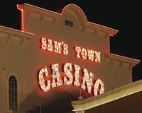 Sam's Town Hotel and Casino, Tunica Mississippi. Sam's Town Tunica provides an unforgettable experience of casino gaming and luxurious relaxation in stock photos