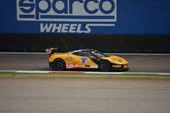 Sam Smeeth Ferrari 458 Challenge Evo at Monza. Sam Smeeth drives his Ferrari 458 Challenge Evo during the first race of Pirelli Trophy 2016 for Stratstone Stock Images