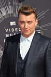 Sam Smith. LOS ANGELES, CA - AUGUST 24, 2014: Sam Smith at the 2014 MTV Video Music Awards at the Forum, Los Angeles Royalty Free Stock Photo