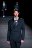 Sam Steele (model) walks the runway for the Page collection Stock Photos