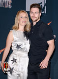 Sam Taylor-Johnson e Aaron Taylor-Johnson Fotos de Stock Royalty Free