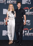 Sam Taylor-Johnson e Aaron Taylor-Johnson Fotografia de Stock