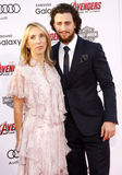 Sam Taylor-Johnson y Aaron Taylor-Johnson Foto de archivo libre de regalías