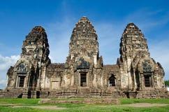sam thailand för lopburiphraprang yod Arkivfoto