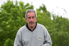 Sam Torrance at the SSE Senior Open Wales 2015. Scottish golfer at the SSE Senior Open at the Celtic Manor Resort Hotel Wales on a rainy first day at the Stock Images