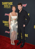 Sam Worthington u. Lara Bingle lizenzfreie stockfotografie